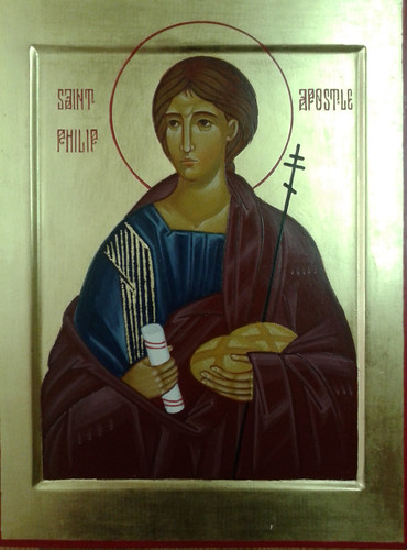 2014 Icône de saint Philippe Apôtre - The Apostle Saint Philip. Main de | hand of Virginie Desjardins | by Périchorèse-iconographie