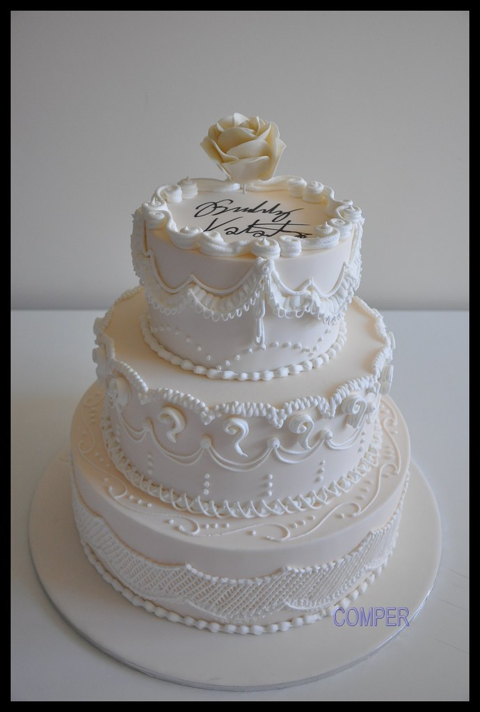 Wedding Cake Signed By Buddy Valastro Ani Comper Flickr