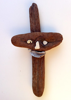 "Driftwood Art ""Smile, God Loves Me"" 