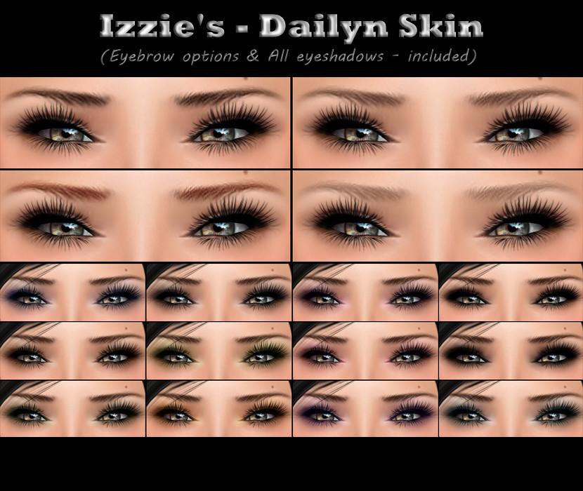 Izzies Dailyn Skin Eyebrow Options All Eyeshadows Flickr