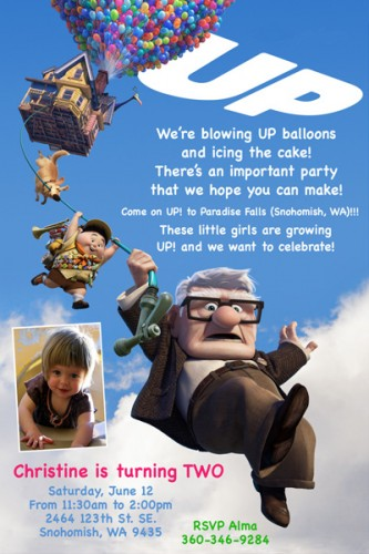 UP Disney Pixar Movie Custom Birthday Invitation Printabl Flickr