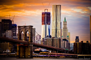 New York City - Construction of the new WTC (One World Trade Center (1 WTC)) or Freedom Tower (tower 1) 9/11 | by Zeeyolq Photography