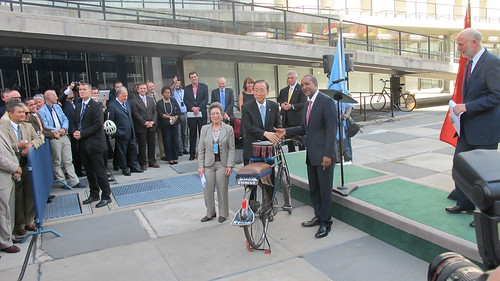 Kenyan Ambassador gifts Boda Boda Taxi Bike to Ban Ki-Moon | by itdp