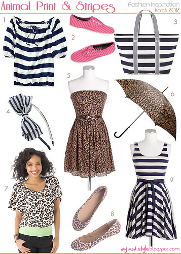 Fashion Friday:  Animal Print & Stripes / March 2012 | by Jessie {Creating Happy}