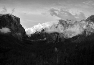 Test 1: b&w 5/25/12 - Flickr makes it black. Clearing storm, Yosemite. See Intended B&W balance in orig'l in description below. #2647 | by andrys1