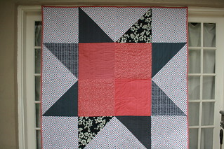 giant red white and blue star | by Leigh - leedle deedle quilts