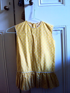 1960s yellow and white polka dot girls dress | by clare.mcm