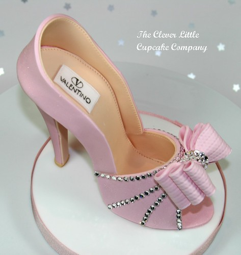 Pink Sugar Shoe Cake Topper | by The Clever Little Cupcake Company