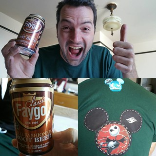 "We got a Faygo because juggalos, but God struck it from Keith""s hand and spilled it before we could drink it. Bonus: Keith""s shirt I made him for the cruise."