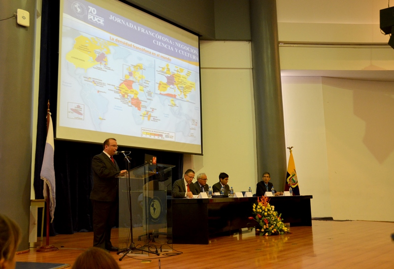 Dirección de Relaciones Internacionales: Inauguración, Jornada Francófona Negocios, Ciencia y Cultura. 07-06-2016