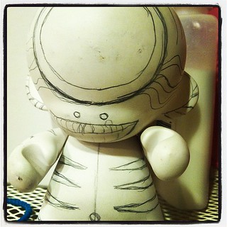 Ready to be painted. #munny #kidrobot | by michaelnightmare