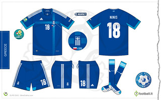 Greece Euro 2012 away kit | by 7football
