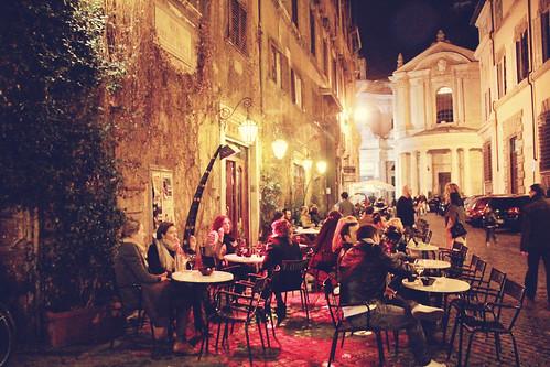 bar della pace caffè della pace rome at night