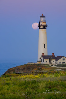 Birthday Moon at the Lighthouse | by Darvin Atkeson