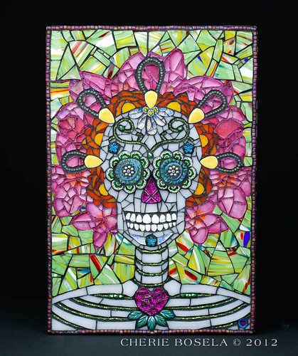 Commissioned Day of the Dead - Sugar Skull mosaic | by Phuzy Logik ♥ CherieBosela.com