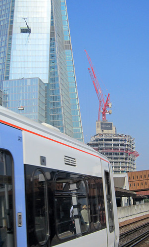 The Shard, The Place, the train....London on the move 2012 | by surreyblonde
