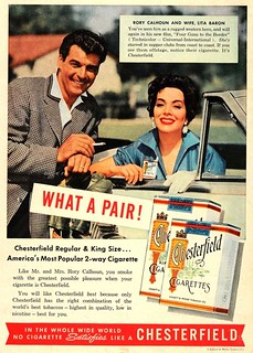 rory calhoun and lita baron chesterfield ad 1955 | by richardschave