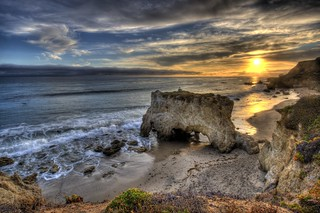 HDR Sunset over El Matador Beach in Malibu | by 45SURF Hero's Odyssey Mythology Landscapes & Godde