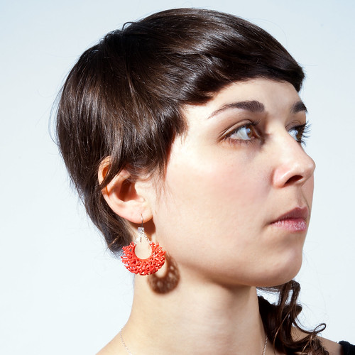 Vessel Earrings - red 3d-printed nylon | by nervous system
