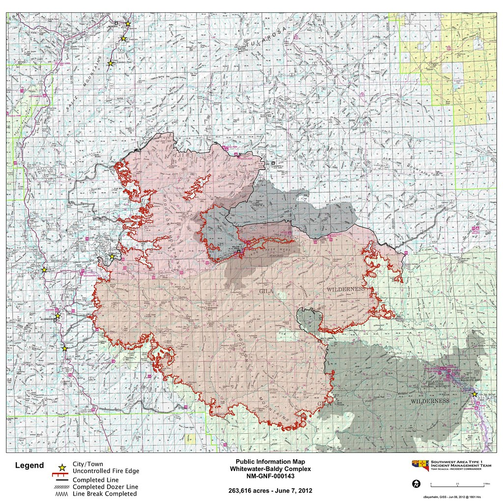 June 7 Fire Map | Gila National Forest | Flickr