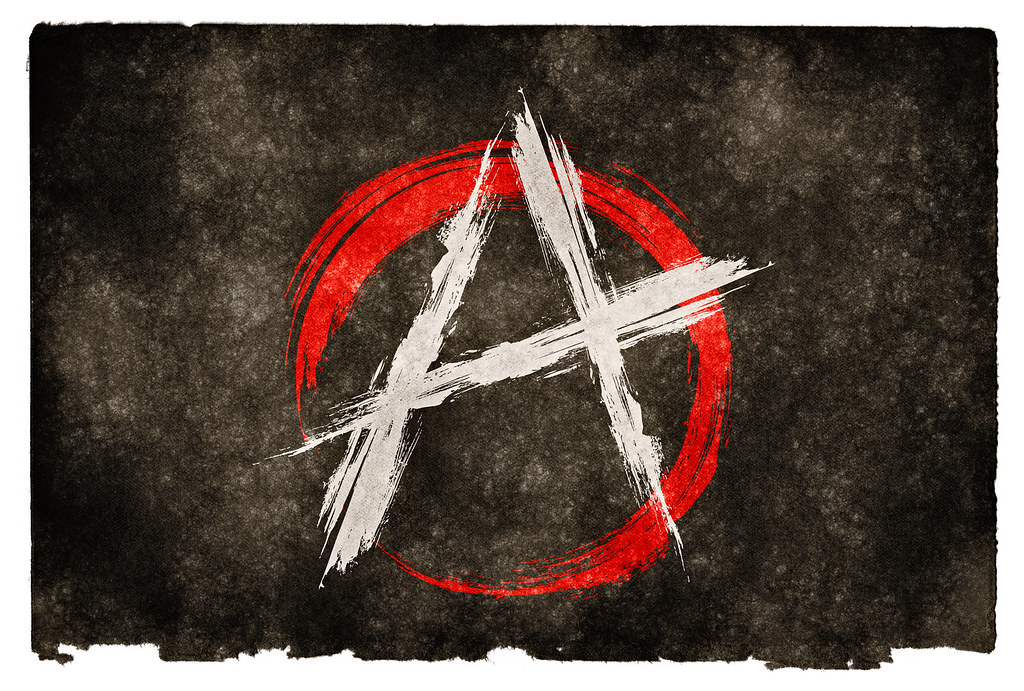 anarchy grunge flag stylized anarchy flag on grunge textur flickr