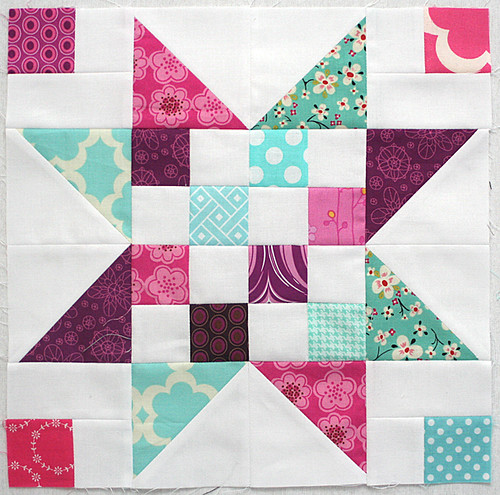 4x5 block for Pink Stitches | by freshlypieced