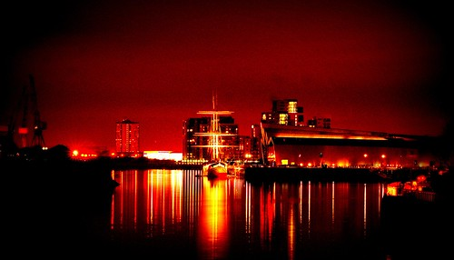 The Clyde Glasgow by night:) | by ClanUrbex
