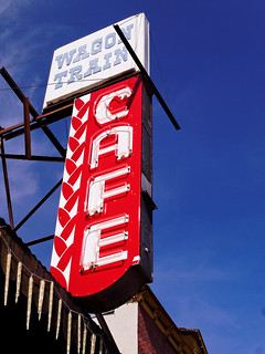 Wagon Train Cafe Neon Sign, Downtown Truckee, CA | by CT Young