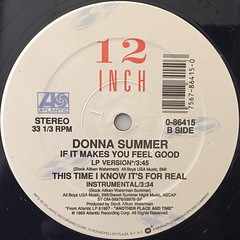 DONNA SUMMER:THIS TIME I KNOW IT'S FOR REAL(LABEL SIDE-B)