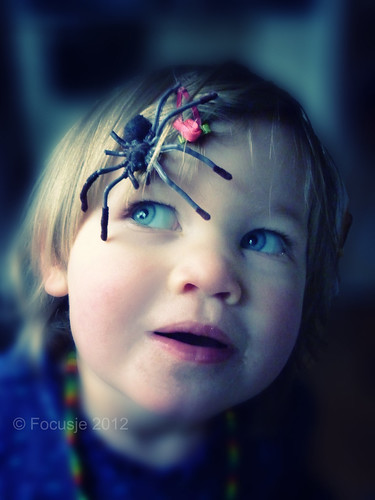 Little girl with large spider | by Focusje (tammostrijker.photodeck.com)