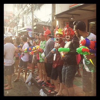 Songkran 2012 Khaosan road | by gongzstudio