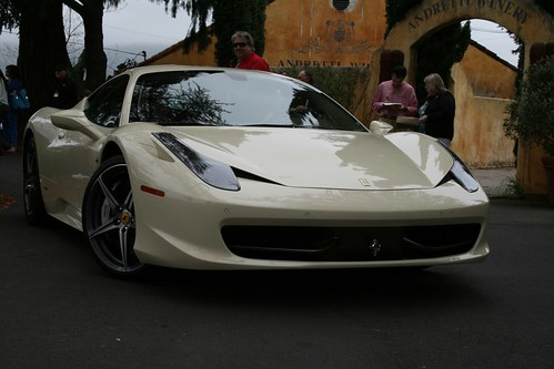Cream Ferrari 458 Italia | by drbeasleys.com