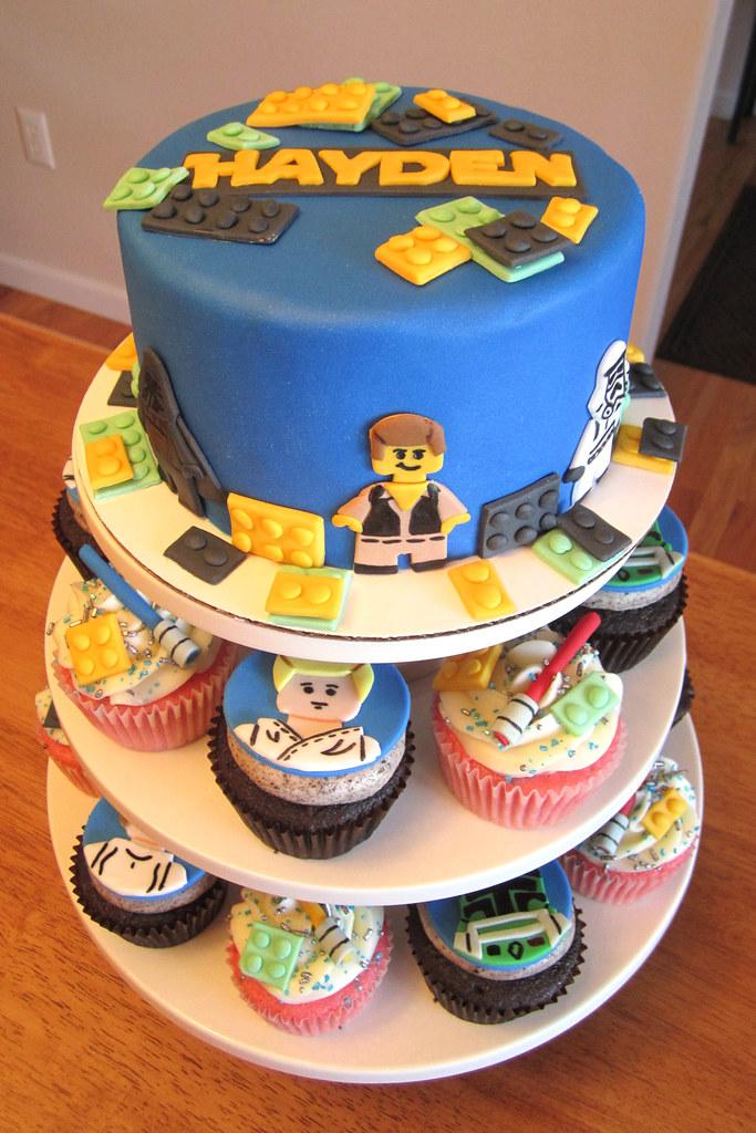 Lego Star Wars Birthday Cupcakes And Cake Mindy Bortz Flickr
