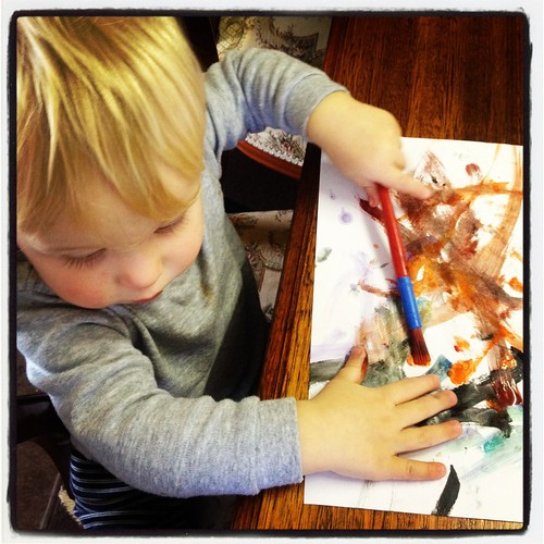 Hamish painting | by One Craftee Mumma!