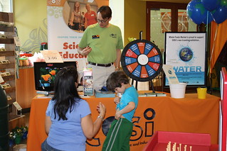Spinning the prize wheel and learning about COSI. | by cosiscience