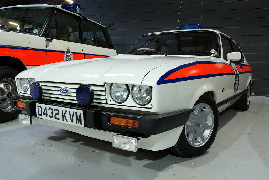 1986 Greater Manchester Police Ford Capri 2.8 injection - … | Flickr