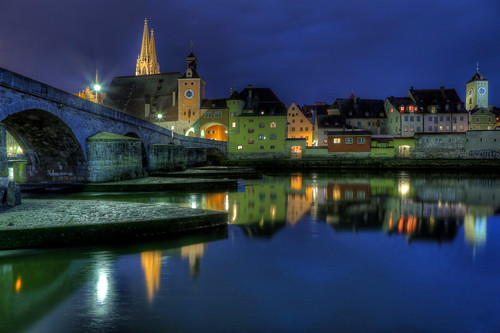 Stone Bridge Regensburg - Blue Hour | by 1982Chris911 (Thank you 5.500.000 Times)