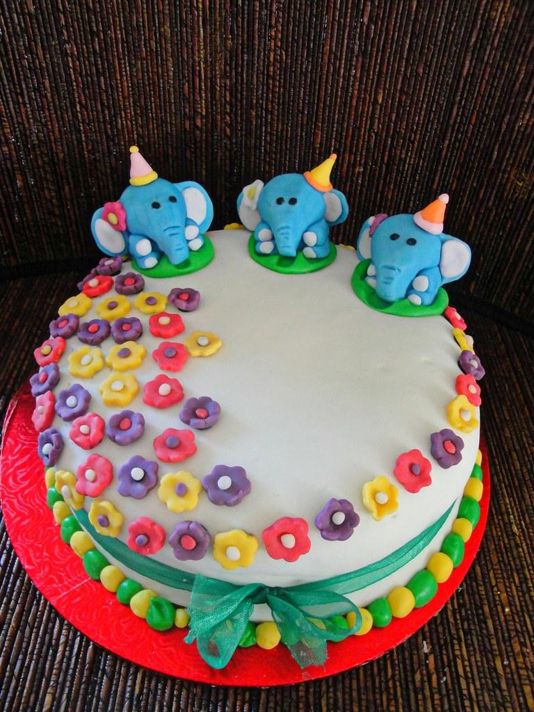 Elephant Birthday Cake Divya Suresh Flickr