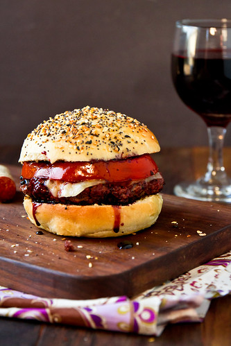 Cabernet Burgers with Everything Buns | by TheBrewer&TheBaker