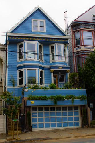 C 39 est une maison bleue la maison bleue qui a inspir e for Adresse de la maison bleue san francisco