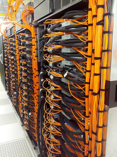 "VLSCI IBM BlueGene/Q ""Avoca"" cabled up, powered up and in testing in just 5 days! 
