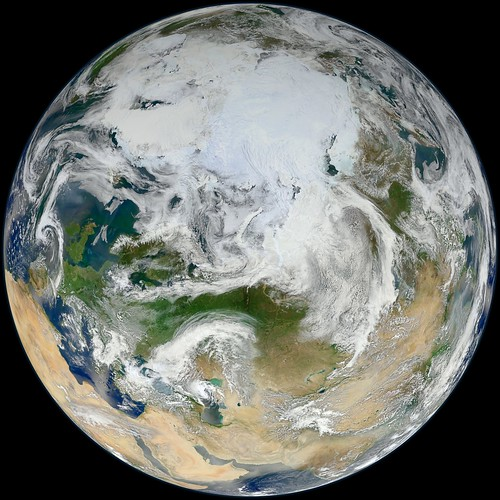 Blue Marble 2012 - 'White Marble' Arctic View | by NASA Goddard Photo and Video