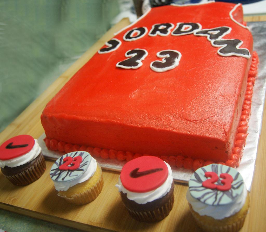 Michael Jordan Themed Cake Cupcakes wwwprettylittlethin Flickr