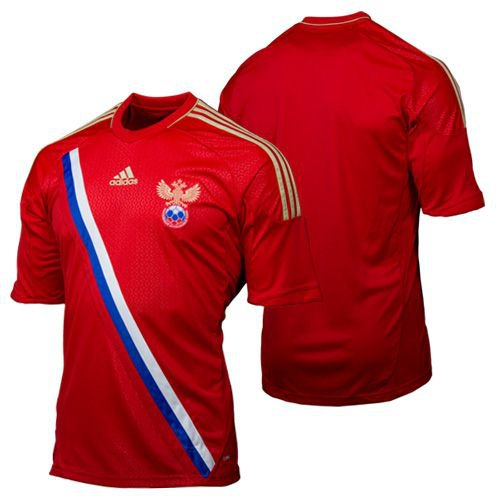 c9055323 ... Men's Large adidas 2012/13 Russia Red Home Soccer Jersey UEFA Euro 2012  | by
