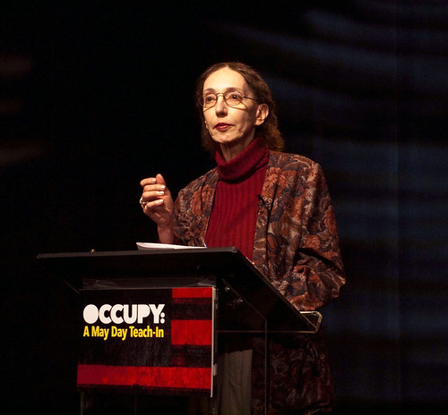 Joyce Carol Oates at Occupy Wall Street Teach-In | by Celestial Timepiece