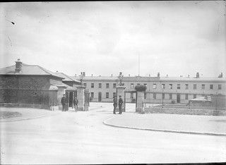 Military Barracks at 11.07 a.m., but where? Garda Headquarters in the Phoenix Park, that's where! | by National Library of Ireland on The Commons