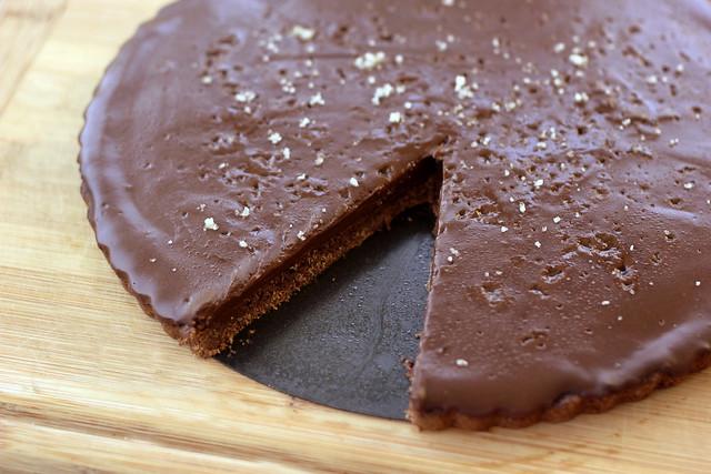 Salted Chocolate Tart - Gluten-free, Grain-free + Vegan