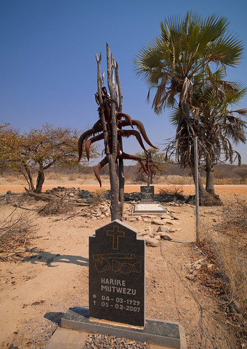Himba Graves Decorated With Cattle Horns, Namibia | by Eric Lafforgue