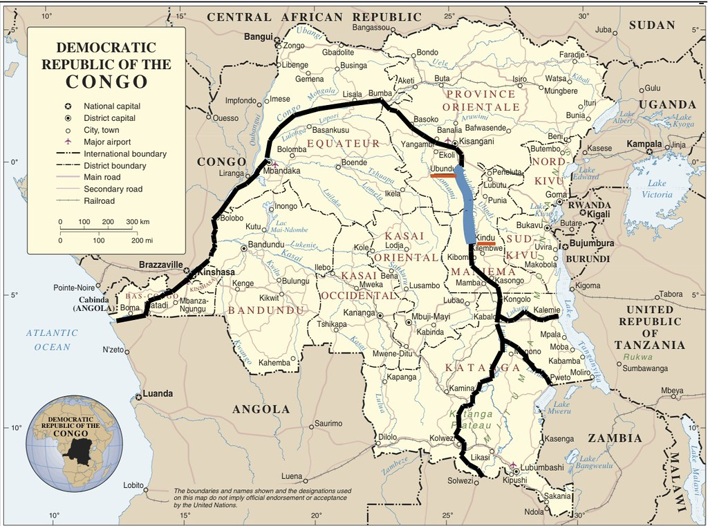 africa map zaire river