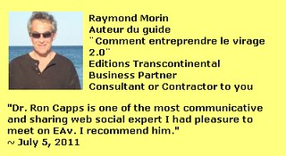 Raymond Morin's LinkedIn Endorsement for Dr. Ron Capps the Nicheprof | by nicheprof